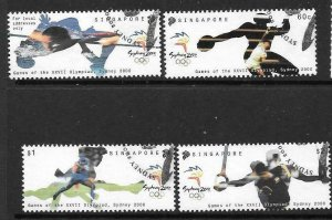 SINGAPORE SG1065/8 2000 OLYMPIC GAMES FINE USED