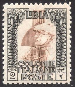 LIBYA #48a Mint NH - 1924 2c Black & Red Browm, P11