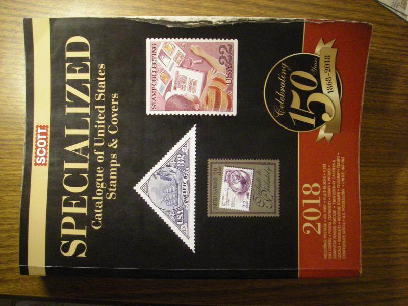 2018 SCOTT UNITED STATES SPECIALIZED STAMP CATALOGUE OF STAMPS & COVERS