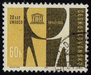 Czechoslovakia #1387 UNESCO 20th Anniversary; CTO (0.25)