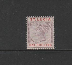 St Lucia 1891/8 QV Die 2 1/- MM SG 50