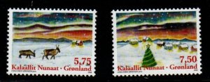 Greenland Sc 529-30 2008  Christmas stamp set mint NH