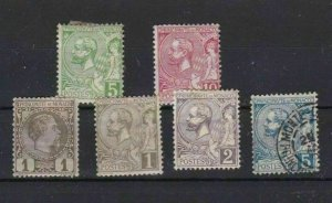 MONACO EARLY STAMPS HINGE AND PAGE REMAINS ON BACKS  REF R1157