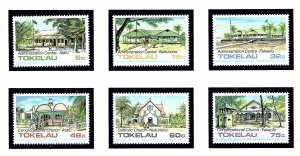Tokelau Is 120-25 MNH 1985 Public Buildings and Churches