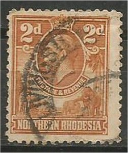 NORTHERN RHODESIA, 1925, used 2p, King George V  Scott 4