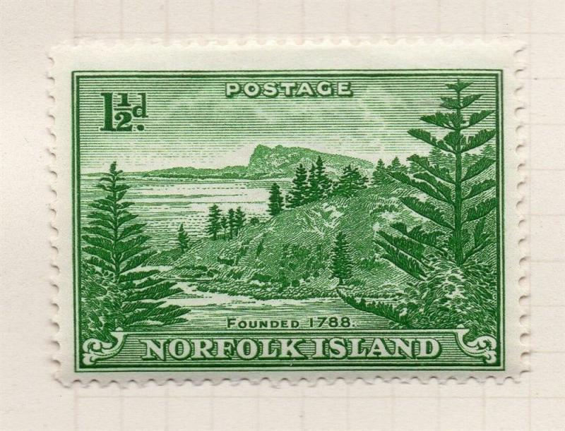 Norfolk Island 1947 Early Issue Fine Mint Hinged 1.5d. 096275