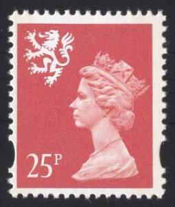 Great Britain Scotland  #SMH65   1993   MNH  Q E II 25p. Machin syncopated