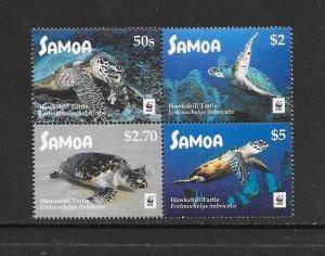 TURTLES - SAMOA #1274  WWF  MNH