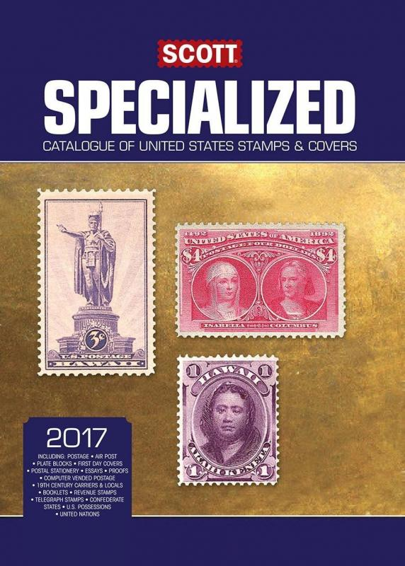 2017 SCOTT SPECIALIZED CATALOGUE OF UNITED STATES STAMPS COVERS SLIGHTLY DAMAGED