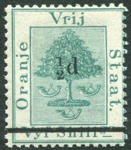 ORANGE FREE STATE-1882 2½d on 5/- Green Sg 36 MOUNTED MINT V33107