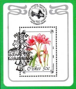 Ciskei - 1988 Philatelic Foundation Flowers MS Used