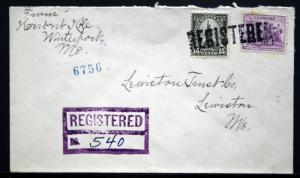 Cover - Registered Winterport ME to Lewiston ME 1934   S276