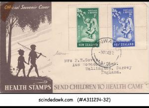 NEW ZEALAND - 1949 HEALTH STAMPS OFFICIAL SOUVENIR COVER WITH CANCELLATION