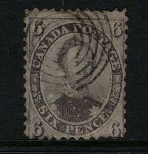 Canada #13 Used Fine - Short Perfs At Lower Right