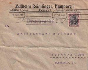 1922, Hamburg to Harburg, Germany (41499)
