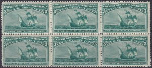 US #232 MNH Block Of 6 CV $585.00 (Z2602L)