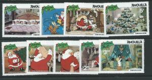 ANGUILLA SG475/83 1981 CHRISTMAS MNH