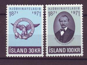 J25511 JLstamps 1971 iceland set mnh #433-4 emblem