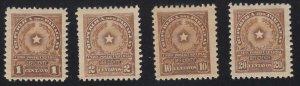 Paraguay - 1913 - SC J5-6,J8-9 - H - J6 NG