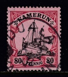 CAMEROON — SCOTT 15 — 1900 80pf KAISER'S YACHT — USED — SCV $11.00
