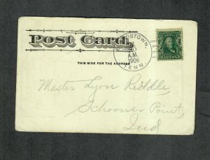 Tennessee Cancel Post Card Beardstown Doane Type 2/2 DPO 1906