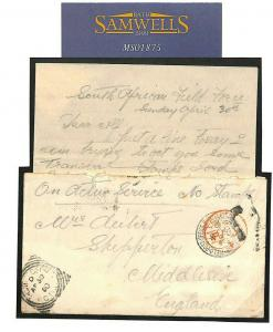 S.Africa COGH BOER WAR Military Letter FPO GOOD CONTENTS 1900 {samwells} MS1875