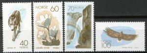 Norway 1970, Fauna, European Nature Conservation Year MNH Mi 602-605, cat 5€
