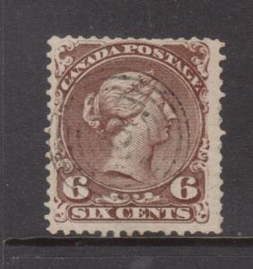 Canada #27iv Used Double Print Rarity **With Certificate**
