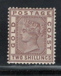 Gold Coast 1884 Queen Victoria 2sh Scott # 20 MH