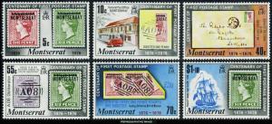 Montserrat Scott 327-332 Mint never hinged.