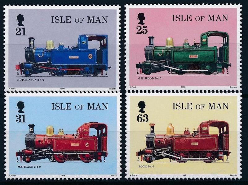 [61366] Isle Of Man 1998 Railway Train Elsenbahn Chemin De Fer  MNH
