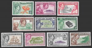 Pitcairn Islands SC 1-8 * KGVI with Island Scenes * MNH * 1940-51