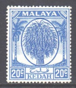 Malaya Kedah Scott 73 - SG84a, 1950 Wheatsheaf 20c MH*