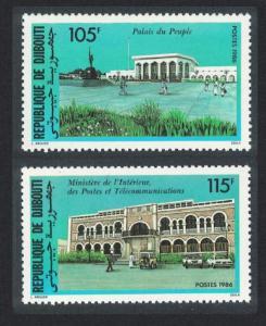 Djibouti Public Buildings 2v SG#983-984