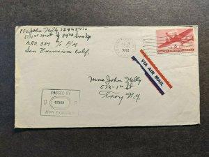 APO 334 GUAM, MARIANAS ISLANDS 1945 Censored WWII Army Cover 89th SERVICE Gp