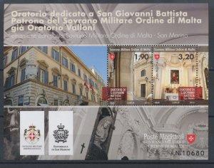 2013 Smom - 'Oratorio San Giovanni Battista' Issue Joint With San Mar