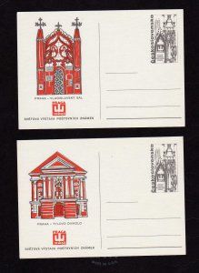 Lot 2 Czechoslovakia  Ceskoslovenska Postal Cards Praga Praha 1968