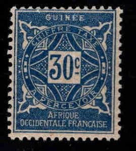 FRENCH GUINEA Scott J20 MH* Postage due stamp