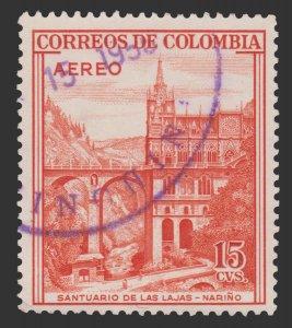 COLOMBIA 1954 SCOTT # C241. USED