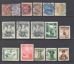 AUSTRIA COLLECTION LOT 3 10S LADIES AND MORE CANCELS x16 MOST SOUND $$$$$$$