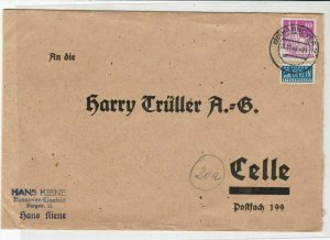 German 1949 Hannover Cancel Obligatory Berlin Tax Aid Stamps Cover Ref 25057