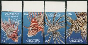 Vanuatu #753-756 Poisonous Fish ~ (8847)