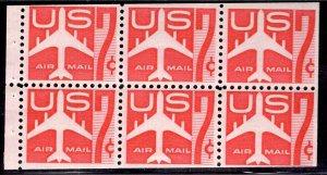 US Stamp #C60 Booklet Pane MINT NH SCV $7.00