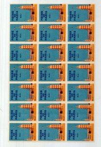 France Foire De Paris Poster Labels MNH Block of 15 (NT 3329