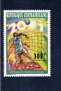 Central African Republic 1995 Sc#1101  Volleyball Cent.Set (1) Perforated MNH VF