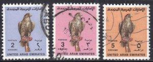 UNITED ARAB EMIRATES SC# 306+09+10 USED  1990 SEE SCAN
