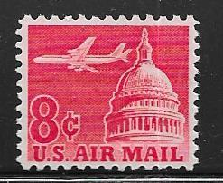 US # C64  8c  Jetairliner  over Capitol (MNH) CV $0.25