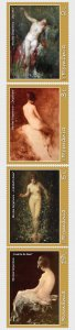 2019 Romania Nudes in Grigorescu Paintings (4) (Scott NA) MNH