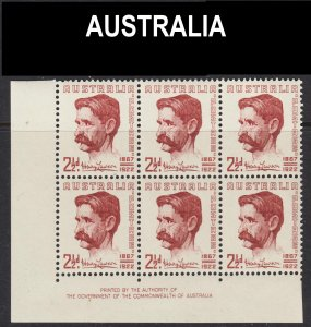 Australia Scott 222 plate block of 6 VF mint OG NH.