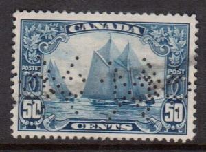 Canada #158 VF Used CXL Perfin C48